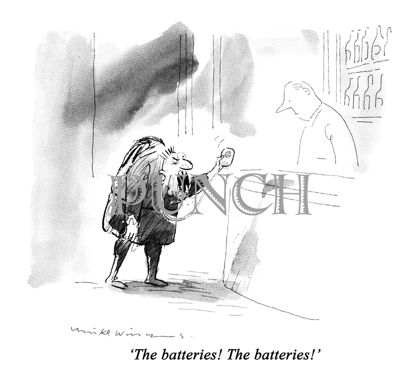 'The batteries! The batteries!'