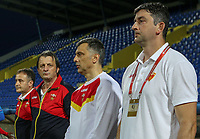 PODGORICA, MONTENEGRO - JUNE 07: Montenegro coach Miodrag Dzudovic before the 2020 UEFA European Championships group A qualifying match between Montenegro and Kosovo at Podgorica City Stadium on June 7, 2019 in Podgorica, Montenegro MB Media
