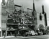 1953 Preparing for the premiere of The Robe at Grauman's Chinese Theater