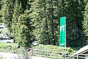 Austria, Tyrol, Hohe Tauern National Park green flag