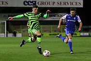 Forest Green Rovers Owen Orford(34) runs forward during the FA Youth Cup match between Forest Green Rovers and Helston Athletic at the New Lawn, Forest Green, United Kingdom on 29 October 2019.