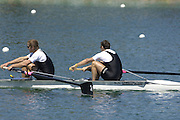 2005 FISA Rowing World Cup Munich,GERMANY. 19.06.2005; NZL M2- Bow Nathan Twaddle and George Bridgewater..Photo  Peter Spurrier. .email images@intersport-images.[Mandatory Credit Peter Spurrier/ Intersport Images] Rowing Course, Olympic Regatta Rowing Course, Munich, GERMANY