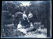 mother with friends and baby toddler France ca 1920s
