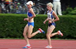 Daneja Grandovec and Petra Sink at Athletic National Championship of Slovenia, on July 20, 2008, in Stadium Poljane, Maribor, Slovenia. (Photo by Vid Ponikvar / Sportal Images).
