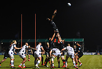 Rugby Union - 2019 / 2020 Gallagher Premiership - Saracens vs. Bristol Bears<br /> <br /> Saracens' Maro Itoje claims the lineout, at Allianz Park.<br /> <br /> COLORSPORT/ASHLEY WESTERN