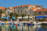 Supetar harbour, Brac island, Croatia .<br /> <br /> Visit our CROATIA HISTORIC SITES PHOTO COLLECTIONS for more photos to download or buy as wall art prints https://funkystock.photoshelter.com/gallery-collection/Pictures-Images-of-Croatia-Photos-of-Croatian-Historic-Landmark-Sites/C0000cY_V8uDo_ls