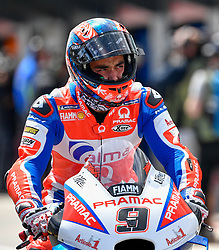 October 26, 2018 - Melbourne, Victoria, Australia - Italian rider Danilo Petrucci (#9) of Alma Pramac Racing exits pit lane during day 2 of the 2018 Australian MotoGP held at Phillip Island, Australia. (Credit Image: © Theo Karanikos/ZUMA Wire)