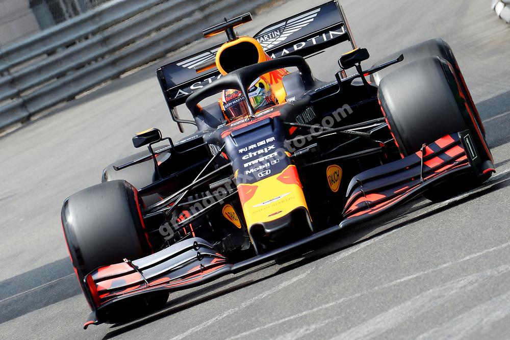 Max Verstappen (Red Bull-Honda) during qualifying for the 2019 Monaco Grand Prix. Photo: Grand Prix Photo