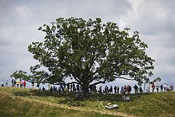 June 17, 2017 - Hartford, WI, USA - 170617 skÅ'dare har samlats kring ett stort trÅd fÅ¡r att fÅ¡lja spelet under tredje omgÅ'ngen i golfturneringen US Open den 17 juni 2017 i Hartford  (Credit Image: © Joel Marklund/Bildbyran via ZUMA Wire)