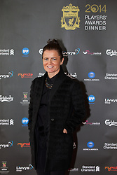 LIVERPOOL, ENGLAND - Tuesday, May 6, 2014: Liverpool Ladies player Becky Easton arrives on the red carpet for the Liverpool FC Players' Awards Dinner 2014 at the Liverpool Arena. (Pic by David Rawcliffe/Propaganda)
