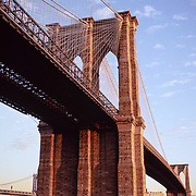 The Brooklyn Bridge, erected in the late 19th century was the first bridge to span the East River, joining Manhattan and Brooklyn, NY5