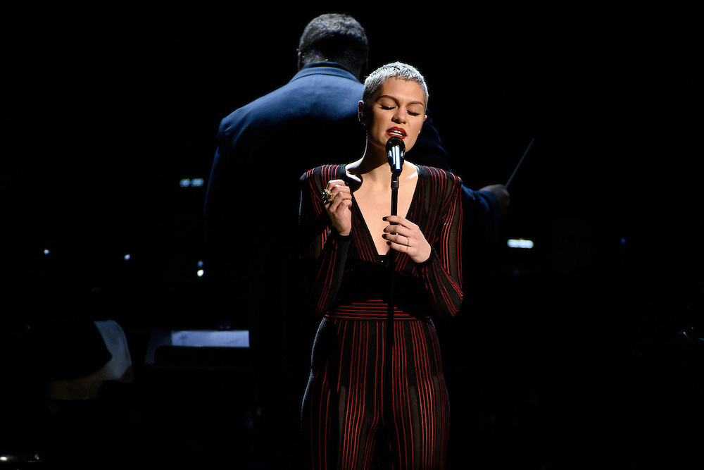 "Photos of Jessie J performing live for the ""It Always Seems Impossible Until It Is Done"" World AIDS Day event at Carnegie Hall in New York, NY on December 1, 2015. © Matthew Eisman/ Rolling Stone. All Rights Reserved"