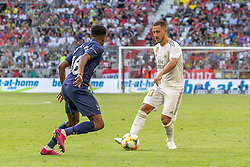 30.07.2019, Allianz Arena, Muenchen, GER, Audi Cup, Real Madrid vs Tottenham Hotspur, im Bild v.l. Kyle Walker Peters (Tottenham Hotspur), Eden Hazard (Real Madrid) // during the Audi Cup Match between Real Madrid and Tottenham Hotspur at the Allianz Arena in Muenchen, Germany on 2019/07/30. EXPA Pictures © 2019, PhotoCredit: EXPA/ Lukas Huter