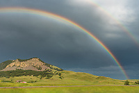 As I came back into Sundance, the sun came out and this rainbow appeared, perfectly aligned over Sundance Mountain.
