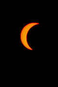 The sun during a partial solar eclipse as seen from Israel on March 29th 2006 at noon