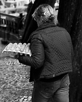Farm Fresh Egg Delivery. Morning Street Photography in Sintra. Image taken with a Fuji X-T3 camera and 35 mm f/1.4 lens.