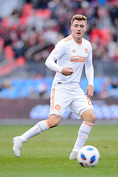 October 28, 2018 - Toronto, ON, U.S. - TORONTO, ON - OCTOBER 28: Julian Gressel (24) of Atlanta United FC runs with the ball during the first half of the MLS Decision Day match between Toronto FC and Atlanta United FC on October 28, 2018, at BMO Field in Toronto, ON, Canada. (Photograph by Julian Avram/Icon Sportswire) (Credit Image: © Julian Avram/Icon SMI via ZUMA Press)