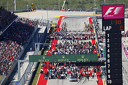 October 22, 2017 - Austin, United States of America - Motorsports: FIA Formula One World Championship 2017, Grand Prix of United States, ..Starting grid  (Credit Image: © Hoch Zwei via ZUMA Wire)