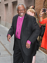 NEW YORK, NY - MAY 22: Bishop Michael Curry presiding bishop over U.S. Episcopal Church who spoke at the Royal Wedding of Meghan Markle (Meghan, Dutchess of Sussex) and Prince Harry spoke to reporters as he was leaving 'The View' in New York, New York on May 22, 2018. CAP/MPI/RMP ©RMP/MPI/Capital Pictures. 22 May 2018 Pictured: Bishop Michael Curry. Photo credit: RMP/MPI/Capital Pictures / MEGA TheMegaAgency.com +1 888 505 6342