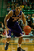 WACO, TX - DECEMBER 18: Ryan King #33 of the Northwestern State Demons brings the ball up court against the Baylor Bears on December 18 at the Ferrell Center in Waco, Texas.  (Photo by Cooper Neill/Getty Images) *** Local Caption *** Ryan King