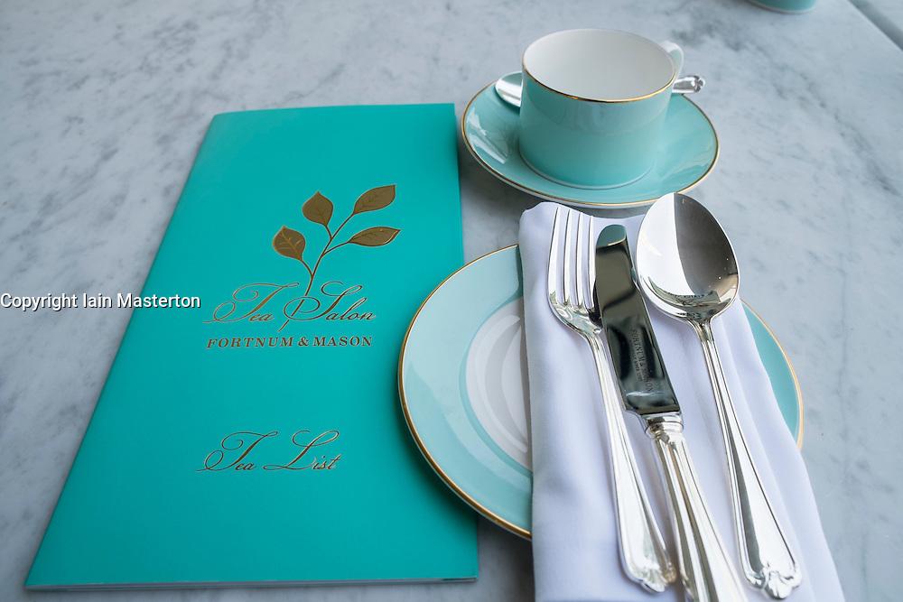 Detail at Fortnum and Mason's new Tea Salon and restaurant in Dubai Mall in Dubai United Arab Emirates