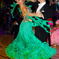Maksym Rublyuk and Marina Aleshina from the USA perform their dance in the Professional Rising Star Ballroom category of the International Championships held in Brentwood Leasure Centre, Brentwood, United Kingdom. Wednesday, 12. October 2011. ATTILA VOLGYI