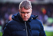 Grant McCann of Doncaster Rovers (Manager) during the The FA Cup fourth round match between Doncaster Rovers and Oldham Athletic at the Keepmoat Stadium, Doncaster, England on 26 January 2019.