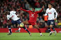 Football - 2019 / 2020 Premier League - Liverpool vs. Tottenham Hotspur<br /> <br /> Moussa Sissoko of Tottenham Hotspur and Georginio Wijnaldum of Liverpool, at Anfield.<br /> <br /> COLORSPORT/PAUL GREENWOOD