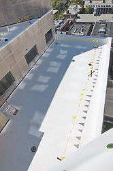 Roof Replacement and Masonry Repairs.  New Haven County Courthouse.  Project No: BI-JD-316A..Architect: Wiss, Janney, Elstner Associates, Inc.    Contractor: Silktown Roofing, Manchester CT..James R Anderson Photography   New Haven CT   photog.com.Date of Photograph: 2 September 2011.Camera View: West, Roof A, Elevation N1 on left