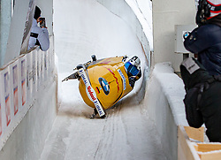 19.01.2020, Olympia Eiskanal, Innsbruck, AUT, BMW IBSF Weltcup Bob und Skeleton, Igls, Bob Viersitzer, Herren 2. Lauf, im Bild Pilot Aleksandr Bredikhin, Andrey Lylov, Ilya Malykh, Roman Koshelev (RUS) // Pilot Pilot Nico Walther mwith Kevin Korona Eric Franke Paul Krenz of Germany reacts after their 2nd run of four-man Bobsleigh competition of BMW IBSF World Cup at the Olympia Eiskanal in Innsbruck, Austria on 2020/01/19. EXPA Pictures © 2020, PhotoCredit: EXPA/ Peter Rinderer