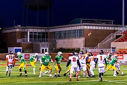 9 April 2021: Springfield Lanphier Lions at UHigh Pioneers at Hancock Stadium, boys football.