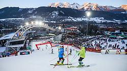 26.01.2016, Planai, Schladming, AUT, FIS Weltcup Ski Alpin, Schladming, Slalom, Herren, 1. Durchgang, im Bild Übersicht des Hanges und Schladming // view of the slope and Schladming before 1st run of men's Slalom Race of Schladming FIS Ski Alpine World Cup at the Planai in Schladming, Austria on 2016/01/26. EXPA Pictures © 2016, PhotoCredit: EXPA/ Johann Groder