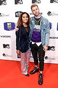 MTV EMA Pre-party Amsterdam 2018 in Het Sieraad, Amsterdam.<br /> <br /> Op de foto:  Gijs Scheeringa - DJ Johnny 500 en partner