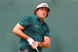 August 25, 2018 - Paramus, NJ, U.S. - PARAMUS, NJ - AUGUST 25:   Phil Mickelson of the United States plays his shot from the first tee  during the third round of The Northern Trust on August 25, 2018 at the Ridgewood Championship Course in Ridgewood, New Jersey.   (Photo by Rich Graessle/Icon Sportswire) (Credit Image: © Rich Graessle/Icon SMI via ZUMA Press)