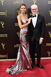 .Heidi Klum, Tim Gunn  attend  2016 Creative Arts Emmy Awards - Day 2 at  Microsoft Theater on September 11th, 2016  in Los Angeles, California.Photo:Tony Lowe/Globephotos