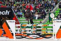 Husnu Dinc, (TUR), Chellachic Z - Team & Individual Competition Jumping Speed - Alltech FEI World Equestrian Games™ 2014 - Normandy, France.<br /> © Hippo Foto Team - Leanjo De Koster<br /> 02-09-14