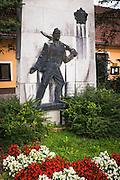 War memorial on the Kupa River in Brod, Croatia