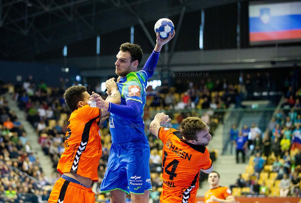 14-04-2019 SLO: Qualification EHF Euro Slovenia - Netherlands, Celje<br /> Borut Mackovsek of Slovenia  during handball match between National teams of Slovenia and Netherlands in Qualifications of 2020 Men's EHF EURO