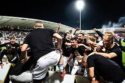 Team of Mura celebrates after football match between NK Maribor and NS Mura in 36th Round of Prva liga Telekom Slovenije 2020/21, on 22 of May, 2021 in Ljudski Vrt, Maribor, Slovenia. Photo by Blaž Weindorfer / Sportida