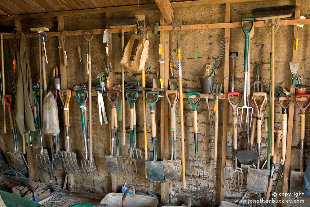 The tool shed in the Nursery at Sissinghurst Castle