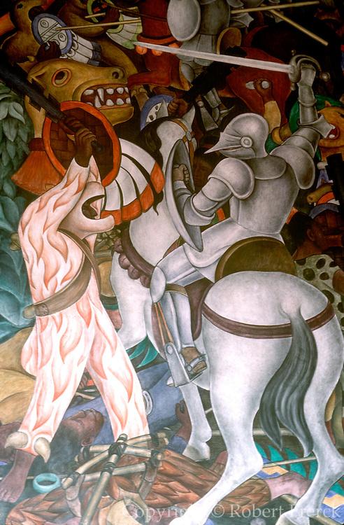 MEXICO, CUERNAVACA, MURALS Rivera's 'History of Mexico'