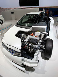 Toyota Hybrid HSD cut way demonstration car at Paris Motor Show 2010