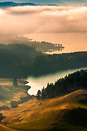 Dospat lake in Rhodope Mountains at autumn morning