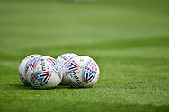Mitre delta sky bet match ball during the EFL Sky Bet League 1 match between Portsmouth and Coventry City at Fratton Park, Portsmouth, England on 22 April 2019.