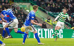 Celtic's Callum McGregor scores his side's first goal of the game during the Ladbrokes Scottish Premiership match at Celtic Park, Glasgow.