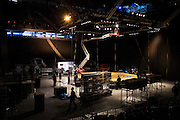LAS VEGAS, NV - JULY 7:  Crews assemble the Octagon for UFC 200 at T-Mobile Arena on July 7, 2016 in Las Vegas, Nevada. (Photo by Cooper Neill/Zuffa LLC/Zuffa LLC via Getty Images) *** Local Caption ***
