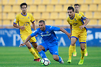 Getafe CF's Medhi Lacen (l) and AD Alcorcon's Carlos Bellvis during friendly match. August 9,2017. (ALTERPHOTOS/Acero)