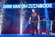 Dirk van Duijvenbode (Netherlands) walk-on during the William Hill World Darts Championship at Alexandra Palace, London, United Kingdom on 28 December 2020.