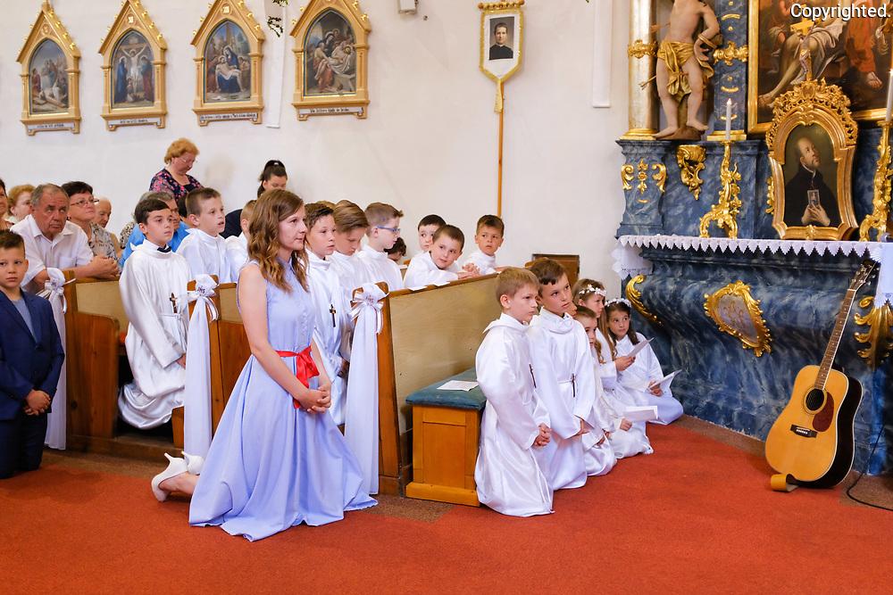 Prve sv. prijimanie v Poprade Velkej 16.juna 2019