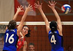 Sonja Borovinsek of Nova KBM at 1st match of finals of 1st DOL women volleyball league between OK Hit Nova Gorica and OK Nova KBM Branik, Maribor played in OS Milojke Strukelj, on April 8, 2009, in Nova Gorica, Slovenia. Nova KBM Branik won 3:1. (Photo by Vid Ponikvar / Sportida)